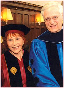 Mrs. Kaufman at the Fordum University earning her Honorary Doctorate Degree