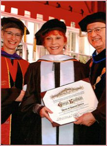 Mrs. Kaufman at USC receiving her Honorary Doctorate Degree