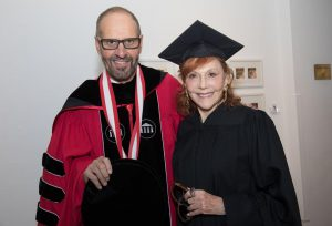 Mrs. Kaufman with the University of Arts president David Yager